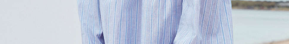 Thumbnail View 1: Cooperative Poplin Striped Off-The-Shoulder Dress