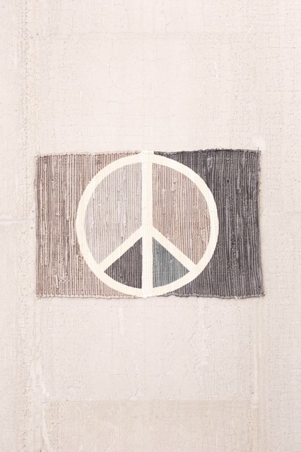 Peace Sign Printed Rug