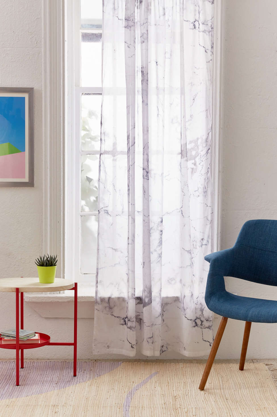Slide View: 1: Marble Window Curtain