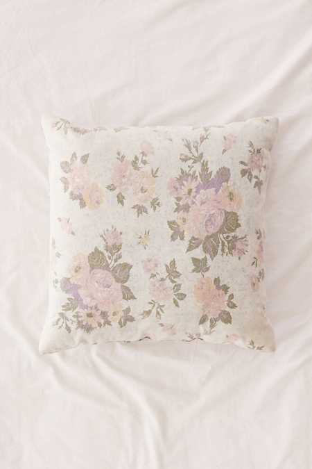 Juliana Floral Acid Wash Denim Pillow