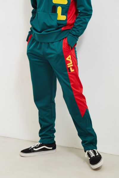 FILA + UO Arkley Track Pant - Green S at Urban Outfitters