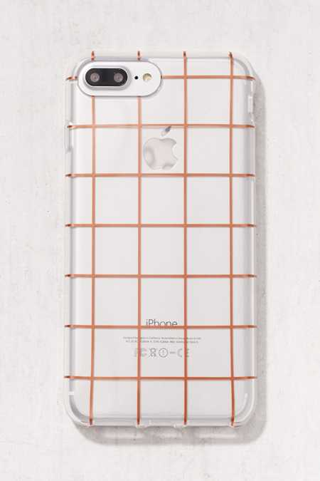 Rose Gold Grid iPhone 6 Plus/7 Plus Case