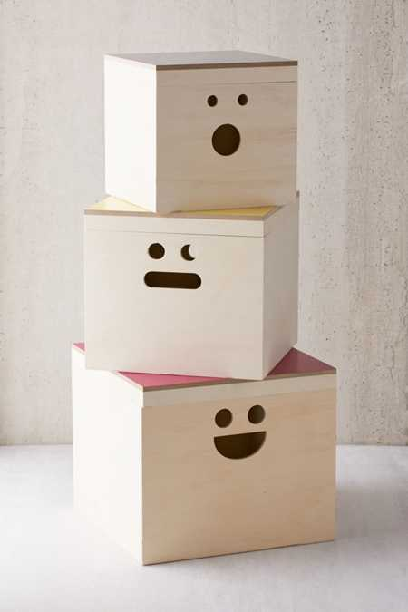 Happy Face Nesting Storage Box Set