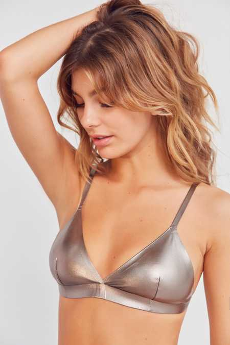 Out From Under Metallic Triangle Bra