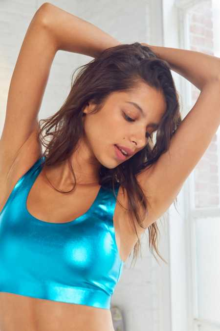 Out From Under Metallic Scoop Neck Bralette