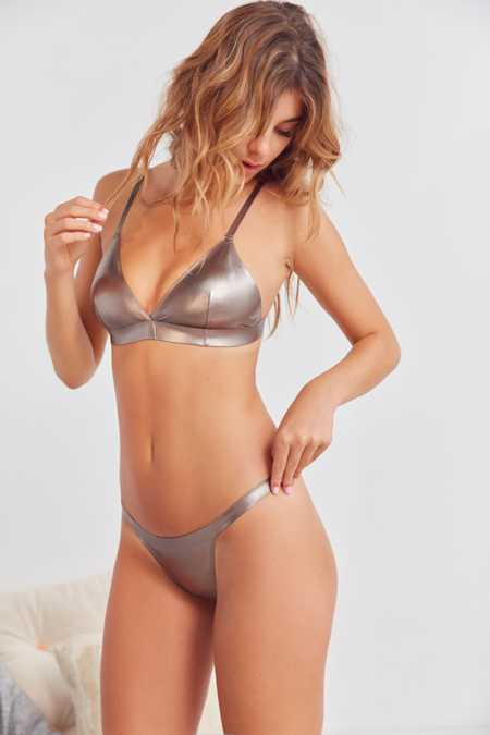 Out From Under Metallic G-String Thong