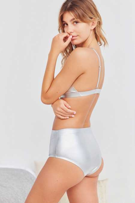 Out From Under Metallic High-Waisted Brief