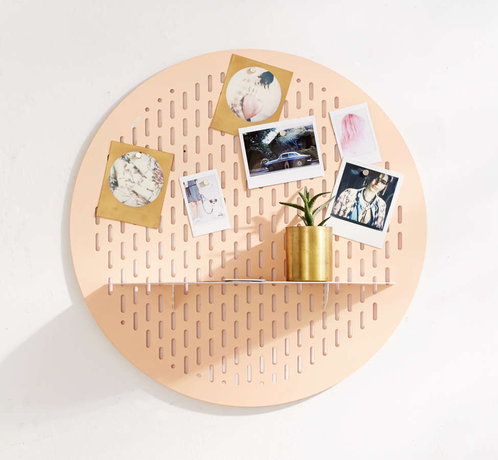 Slide View: 1: Circle Magnet Board Shelf