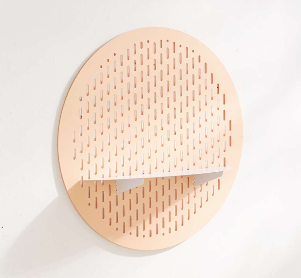 Slide View: 2: Circle Magnet Board Shelf