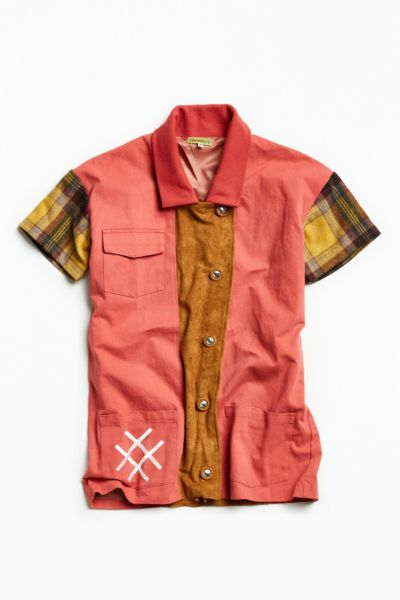 Lucid FC Plaid Chore Jacket - Red Multi M at Urban Outfitters