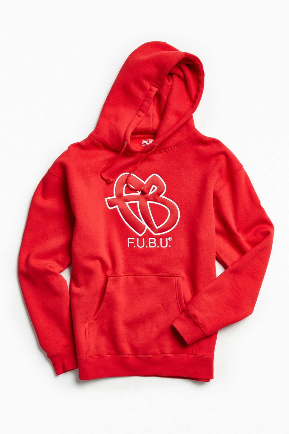 Slide View: 1: FUBU Embroidered Hoodie Sweatshirt