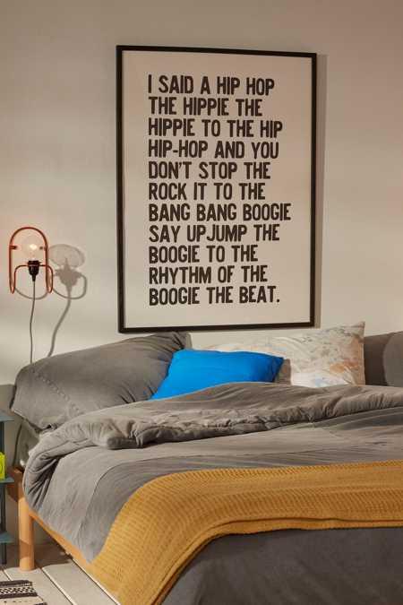 Honeymoon Hotel Rapper s Delight Art Print. Wall Decals   Art Prints   Urban Outfitters