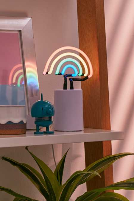 Mini Rainbow Neon Sign Table Lamp