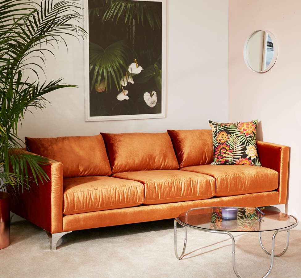 Slide View: 1: Chamberlin Velvet Sofa