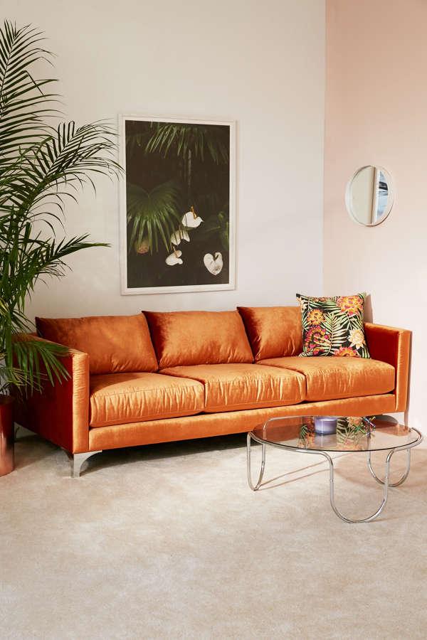 Slide View: 1: Chamberlin Velvet Sofa