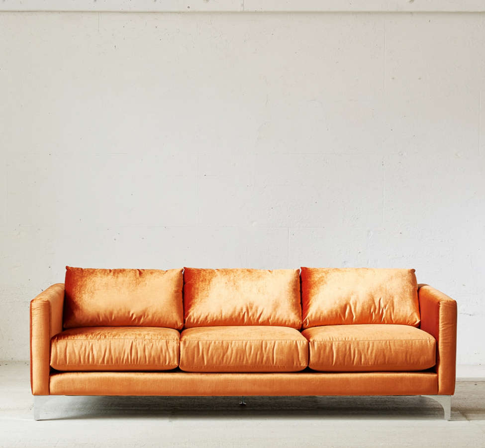 Slide View: 2: Chamberlin Velvet Sofa