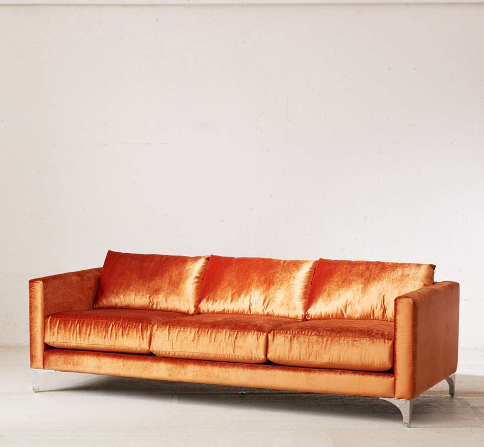 Slide View: 3: Chamberlin Velvet Sofa