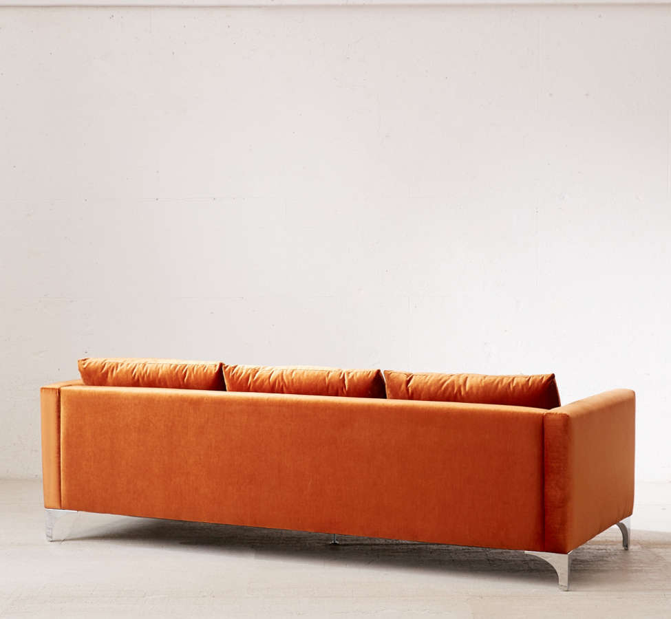 Slide View: 4: Chamberlin Velvet Sofa