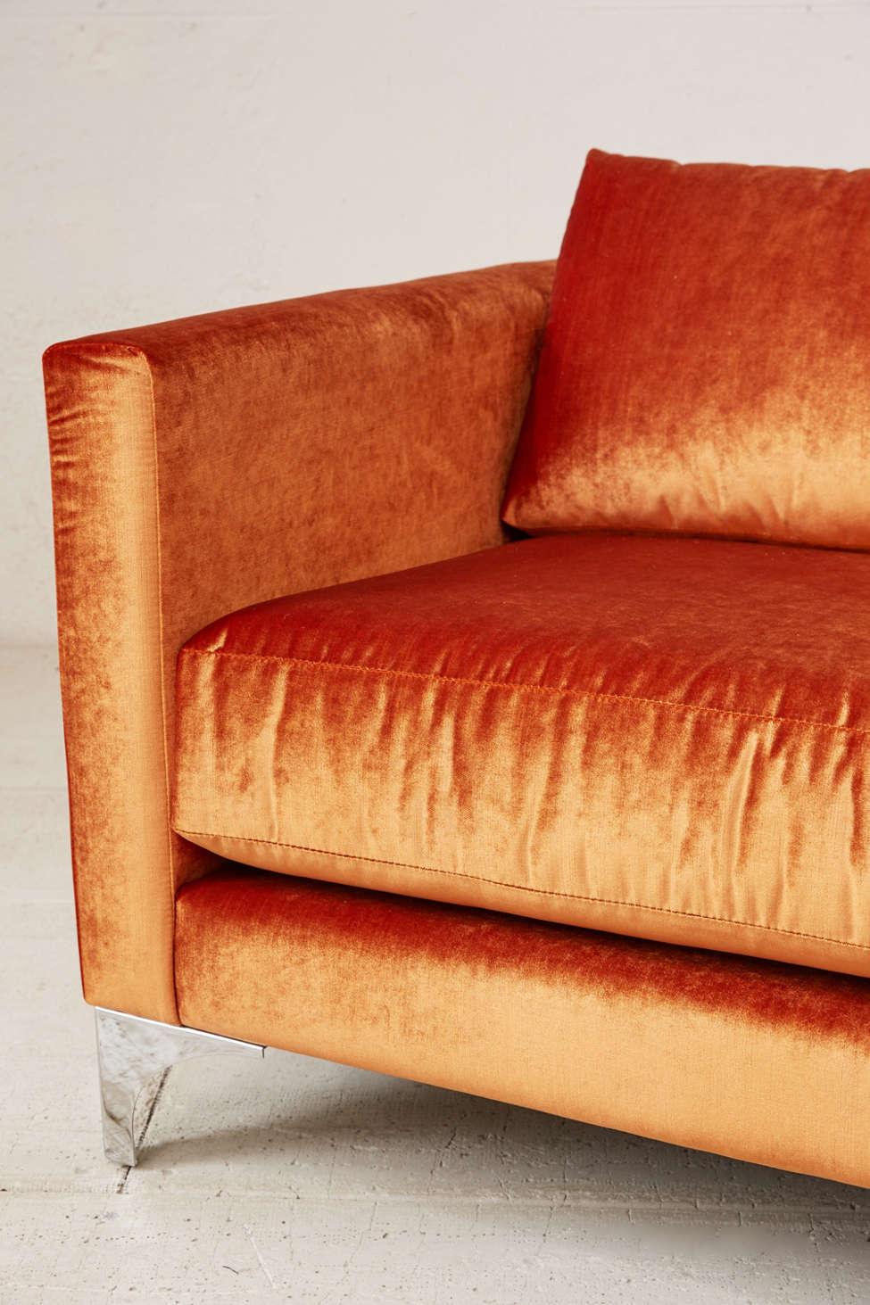 Velvet Sofa chamberlin velvet sofa | urban outfitters