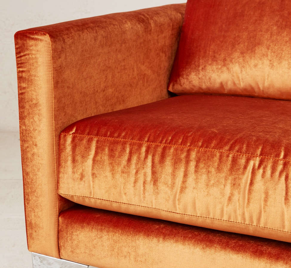 Slide View: 5: Chamberlin Velvet Sofa