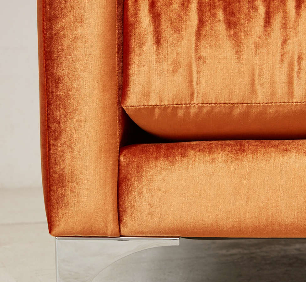 Slide View: 6: Chamberlin Velvet Sofa