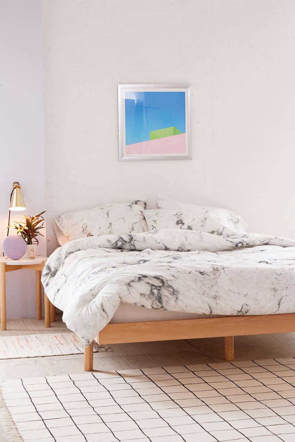 Slide View: 2: Marble Comforter Snooze Set