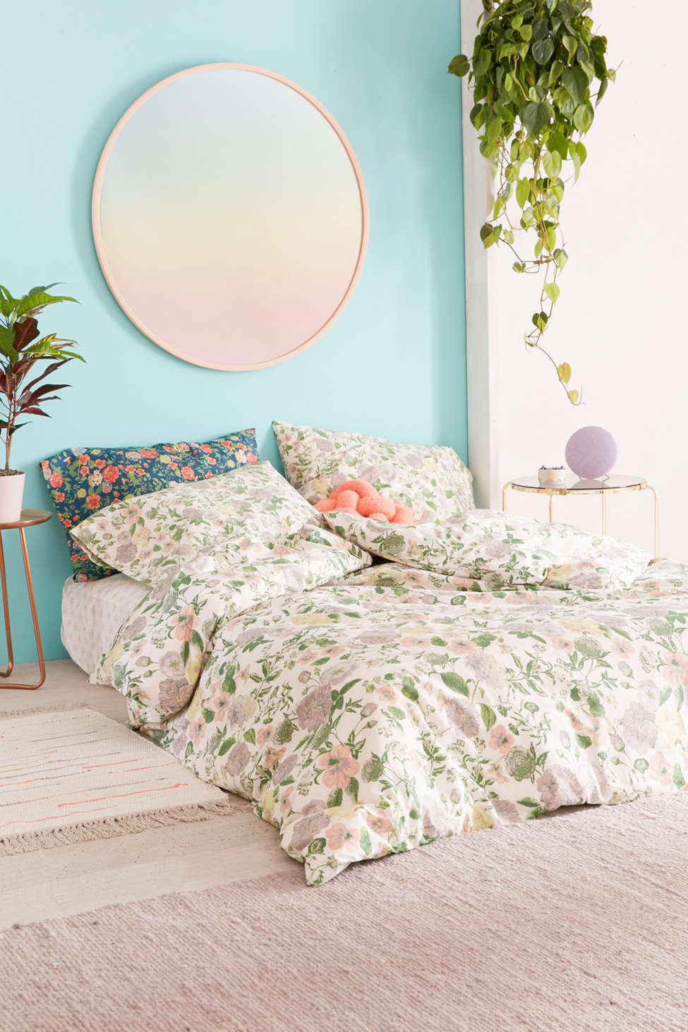 Slide View: 2: Amara Floral Duvet Cover