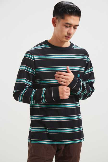 Manastash Nerdy Border Stripe Pocket Long Sleeve Tee