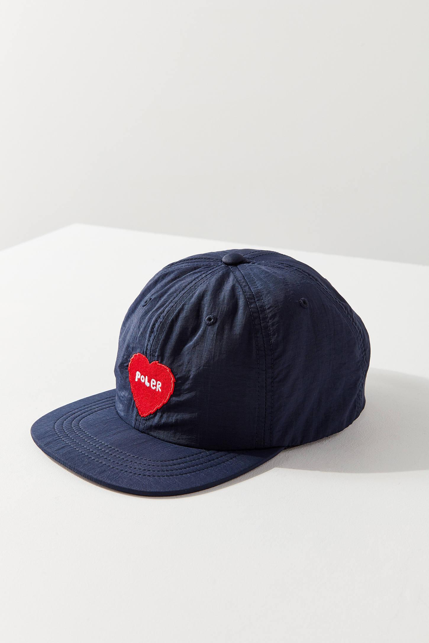 Poler Furry Heart Floppy Baseball Hat  f17352a6cc6