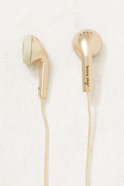 Happy Plugs Earbud Headphones - Gold One Size at Urban Outfitters