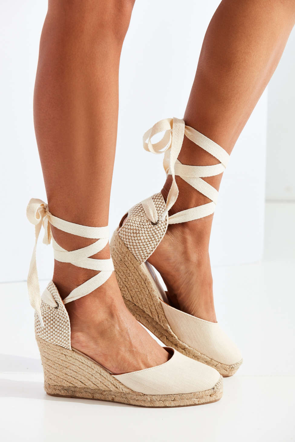 Soludos Linen Espadrille Tall Wedge Sandal Urban Outfitters