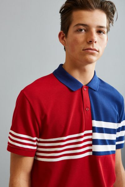 Lacoste Semi Fancy Striped Pique Polo Shirt - White S at Urban Outfitters