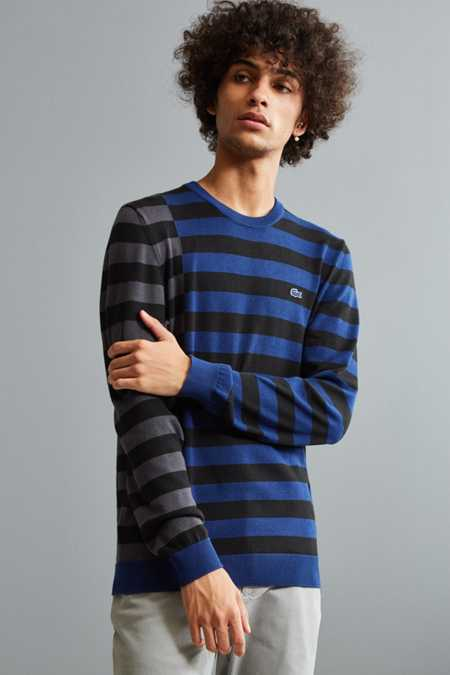Lacoste Broken Stripe Crew Neck Sweater