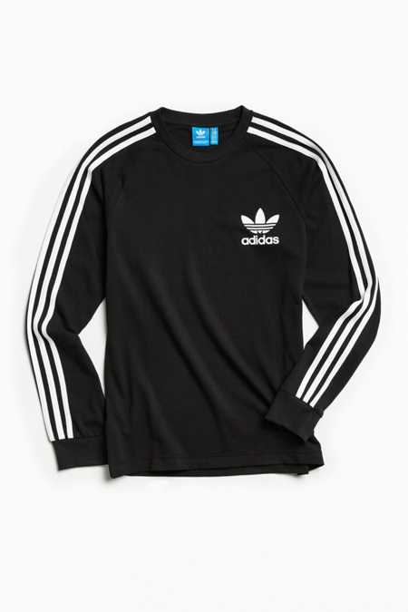 adidas Pique 3-Stripes Long Sleeve Tee