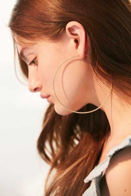 Tess Textured Hoop Earring