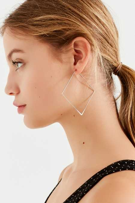 18k Gold-Plated Geometric Hoop Earring