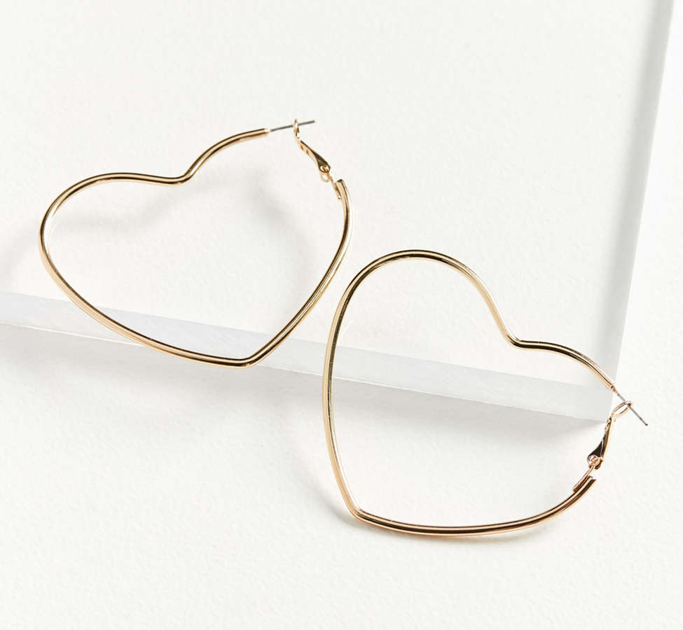 Slide View: 2: 18k Gold-Plated Geometric Hoop Earring