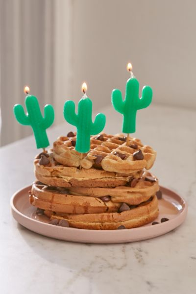 Sunnylife Cactus Party Candle Set - Green One Size at Urban Outfitters