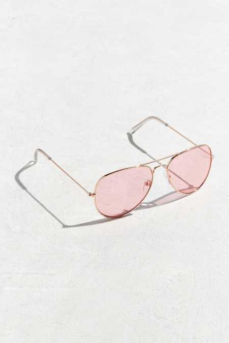 Pink Top Gun Aviator Sunglasses