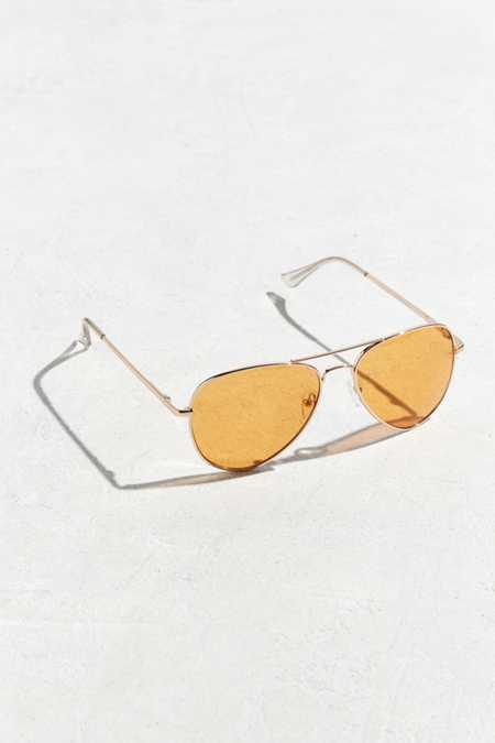 Orange Knoxville Aviator Sunglasses