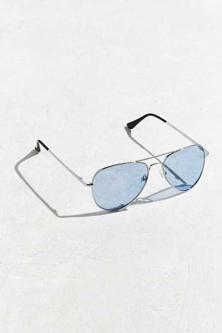 Blue Knoxville Aviator Sunglasses