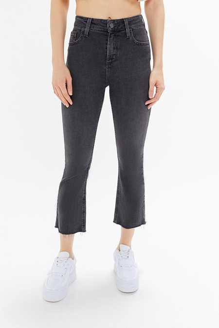 BDG Kick Flare High-Rise Cropped Jean - Black