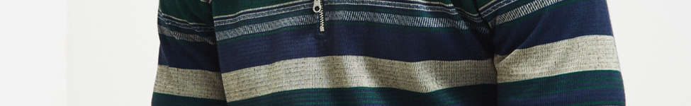 Thumbnail View 1: Le Fix Pattern Knit Zip Polo Shirt