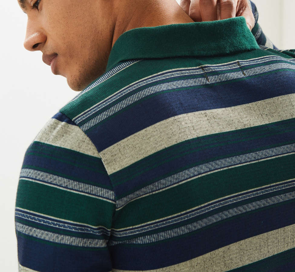 Slide View: 5: Le Fix Pattern Knit Zip Polo Shirt