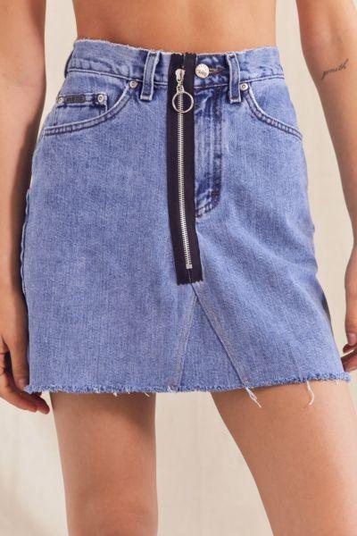 Urban Renewal Recycled High-Rise O-Ring Denim Skirt - Indigo M at Urban Outfitters