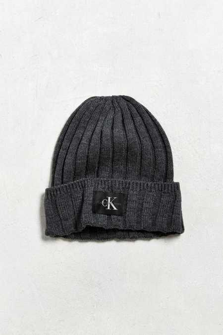 Calvin Klein Wide Cable Knit Beanie