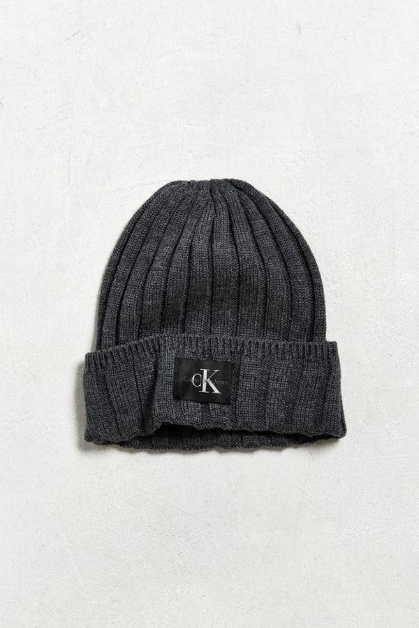 Calvin Klein Wide Cable Knit Beanie  eb63f77ca7d