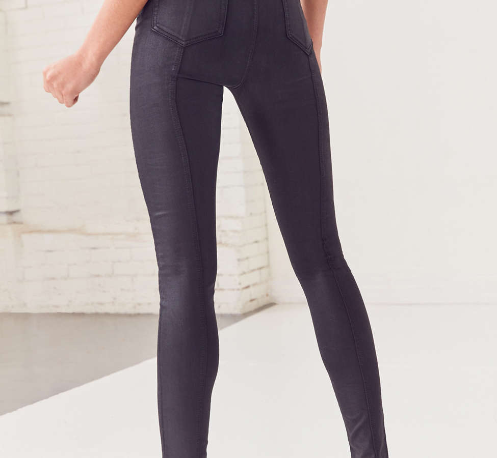 Slide View: 3: BDG Twig High-Rise Skinny Jean – Lace Up Black