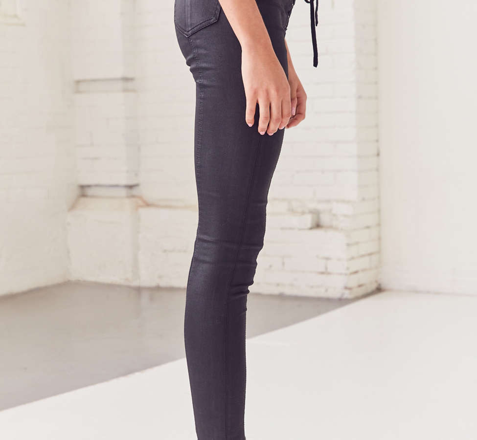 Slide View: 5: BDG Twig High-Rise Skinny Jean – Lace Up Black