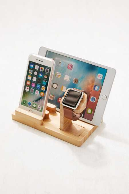 Wooden Multi-Device Charging Dock